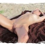 Stéphanie adore se faire masser le corps